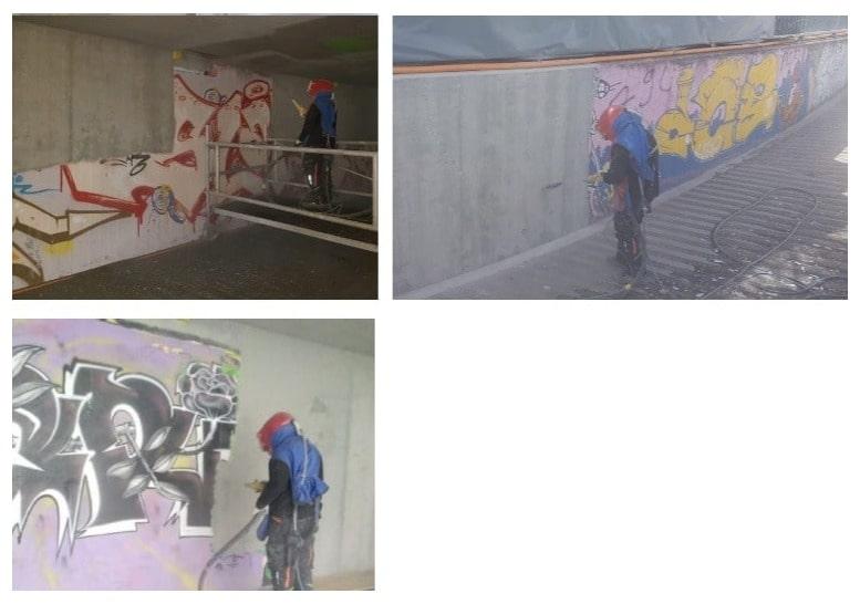 Sablage anti-graffiti