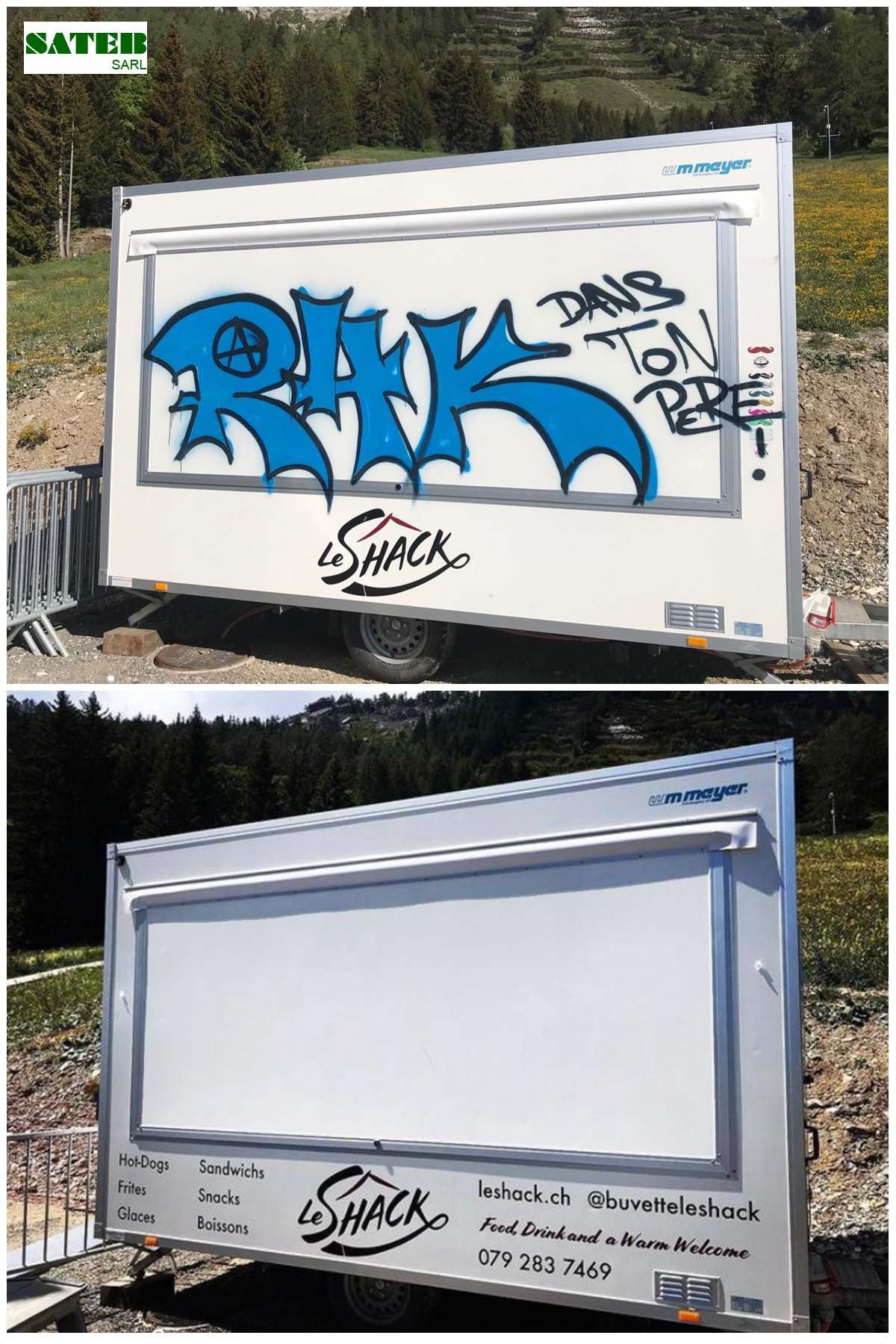 restauration anti-graffiti foodtruck